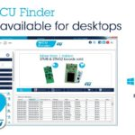 MCU Finder for PC Connects Conveniently to STM32 and STM8 Design Resources