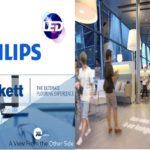 New Tarkett luminous vinyl flooring features Philips LED technology
