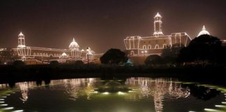 Raisina Hills buildings may light up permanently every evening
