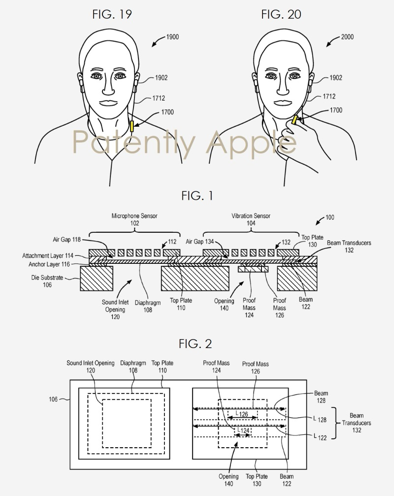 apple invents a new integrated microphone and vibration sensor to provide superior headset noise