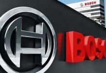 bosch logo on wall