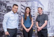 Hailo founders. From left to right - CEO Orr Danon, Chief Business Development Officer Hadar Zeitlin and CTO Avi Baum. Photographer - Eran Tayree - ____