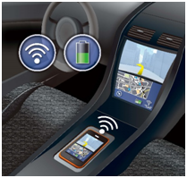 automotive wireless charging with NFC
