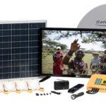 solar satellite TV system