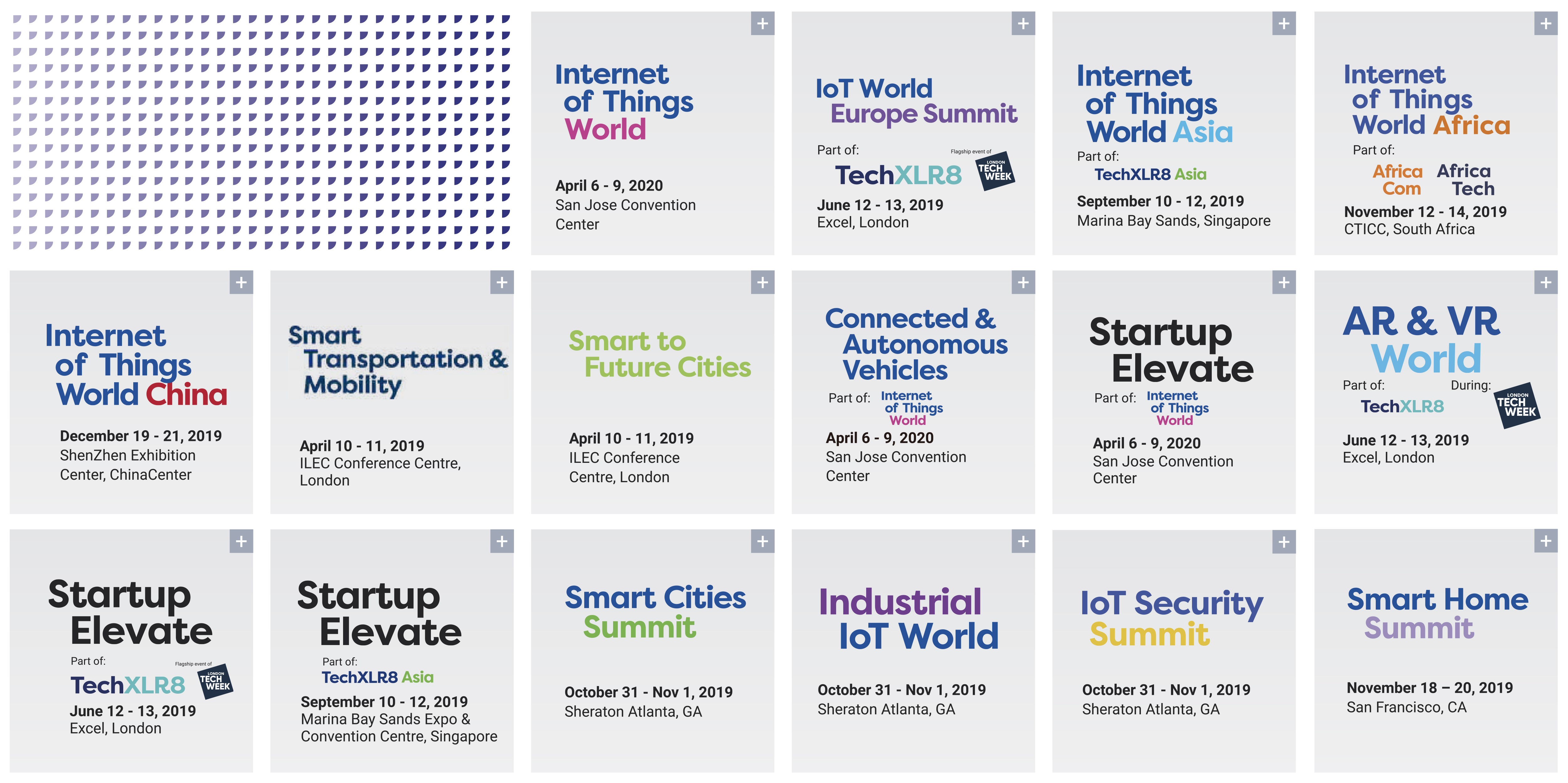 IoT World Series Calendar of Events