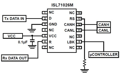 CAN transceiver circuit