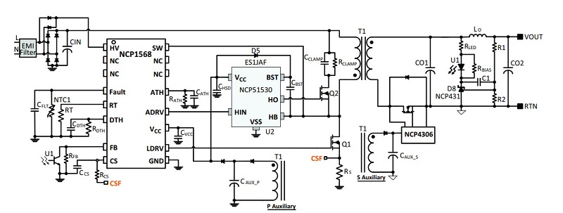 Figure 1: The NCP1568 ACF controller
