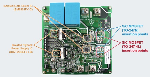 SiC MOSFET evaluation board