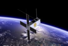 Picasso nanosatellite against earth by BIRA-IASB