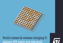 World's Fastest 50W Qi Wireless-Charging IC