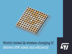 World's Fastest 50W Qi Wireless-Charging IC