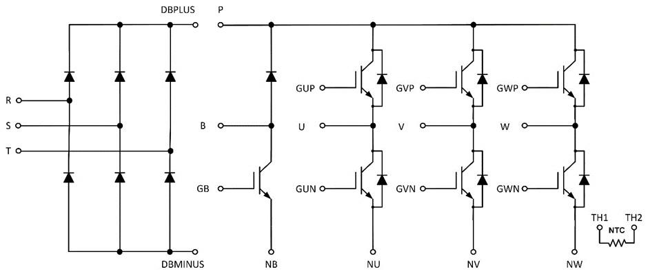 hree-phase AC input converter inverter brake