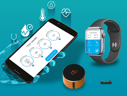 V-Sensor wearables, smartphones & mobile devices with integrated clinically-accurate health vital signs