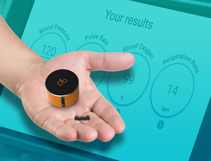 Pocket-Sized Standalone Device with V-Sensor with Clinically-Accurate Vital Signs Measurements