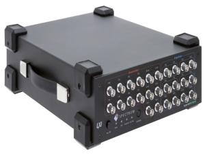 arbitrary waveform generator (AWG) and a digitizer