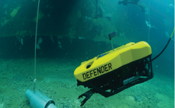 Figure 1 The VideoRay Defender, a remotely operated vehicle (ROV), requires a robust, high-density power delivery network (PDN) for powerful thrust to enable acute maneuverability under the most challenging conditions.