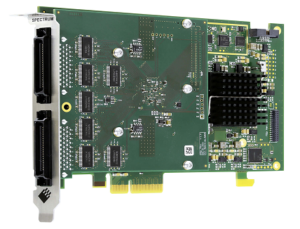 Digital I/O card with 32 channels and 125 MS/s for logic analysis or pattern generation