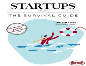 Startups Survival Guide for Startups