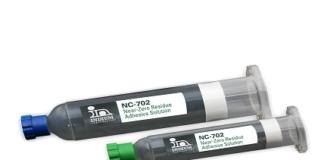 Halogen-free adhesive solution