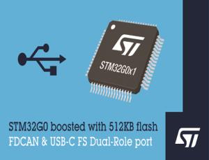 STM32G0 Arm Cortex-M0+ microcontroller (MCU)