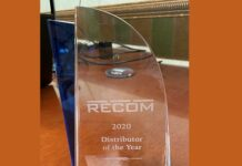 RECOM Power recognizes Digi-Key Electronics with the Distributor of the Year Award for 2020