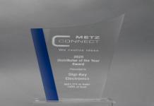 Digi-Key Electronics Named Distributor of the Year